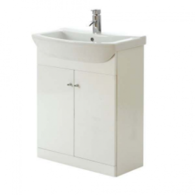 Aquapure_White_Gloss_650mm_Basin_and_Unit