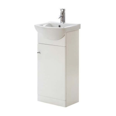 frontline-aquapure-gloss-white-vanity-unit-450mm