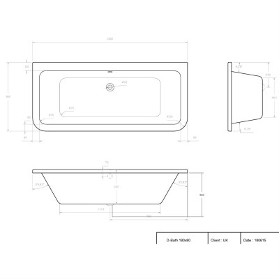 pcdim-247-d-shaped-bath